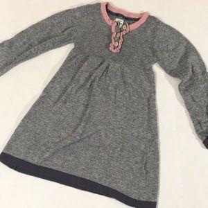 Mini Boden gray sweater dress